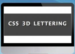 HTML5 CSS3立体可旋转3D文字特效
