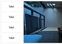 左侧选项卡右侧图片的鼠标响应式特效