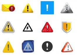 25个感叹号警告PNG图标