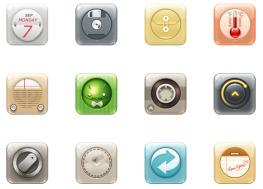 圆角矩形手机app主题PNG图标