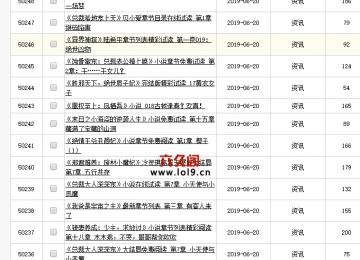 织梦后台文档列表显示条数30修改为一页50条教程
