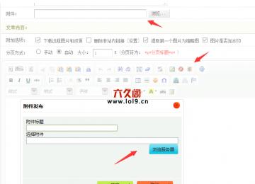 织梦编辑器附件和自定义字段附件类型上传文件后选择不了